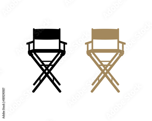 the Director Chair Illustration Symbol Logo Silhouette Vector