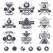 Logos Set For Billiard Club