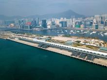 Kai Tak Cruise Terminal Of Hong Kong From Drone View