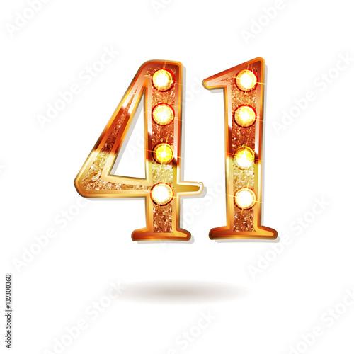 Tela 41 years anniversary celebration logotype