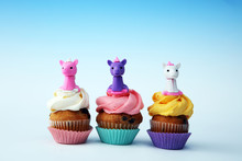 Unicorn Cupcakes For A Party, ...