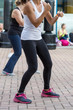 Young Girl: Boxing Workout in Outdoor Gym