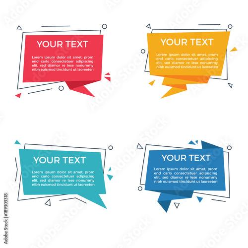 Fotografía  Vector Text Label / Speech Bubble Set