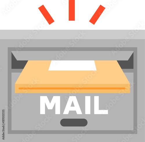 Fototapeta 郵便受けに投入される荷物 obraz