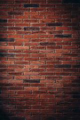 Czerwony ceglany mur tekstury tło grunge może wykorzystać do projektowania wnętrz