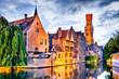 canvas print picture - Belfry, Bruges, Belgium