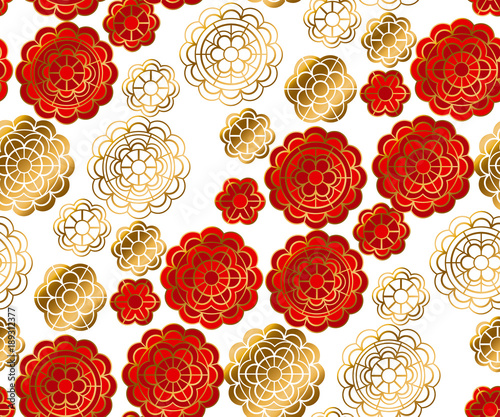 chinese new year celebration by galyna_p red and gold pattern in china style vector illustration for card invitation chinese