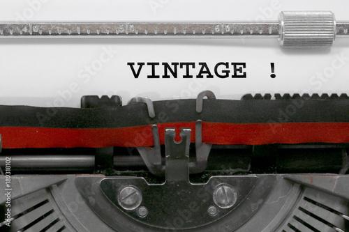 Foto op Aluminium Retro VINTAGE written by the typewriter