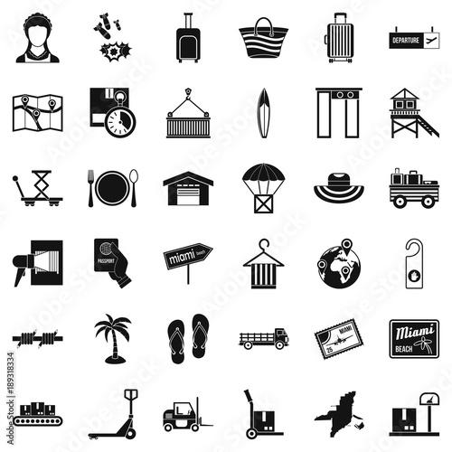 Fotografia Handling icons set, simple style