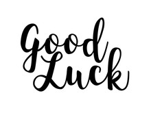 Good Luck Calligraphy Vector