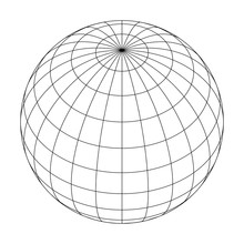 Earth Planet Globe Grid Of Mer...