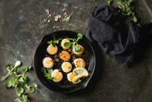 Fried Scallops With Butter Lem...
