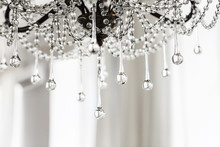 Crystal Chandelier Close Up Ba...