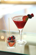 strawberry and wildberries cocktail
