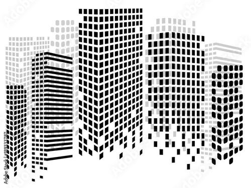Fotografía  Abstract city of skyscrapers