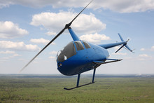 Aircraft - Blue Helicopter Fli...