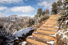 Scenic Sky Steps Trail In Wint...