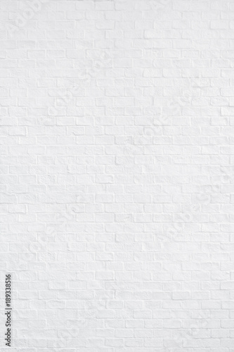 Fotomural  White brick wall texture and background