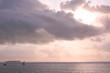 boats at sunset landscape
