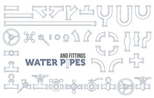Elements Of A Plumbing. Pipes,...