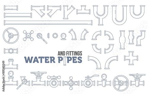 Elements of a plumbing Wallpaper Mural