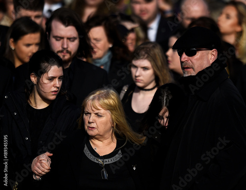 Eillen Oriordan Leaves Her Daughter Dolores Oriordans Funeral