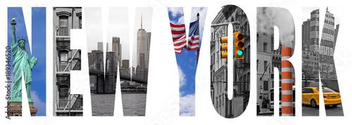 Foto auf AluDibond New York TAXI New York city letter concept