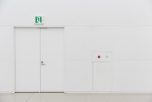 Emergency Fire Exit Door White...