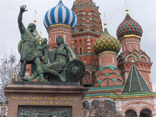 Staande foto Stockholm Dmitry Pozharsky and Kuzma Minin monument Russia.Moscow