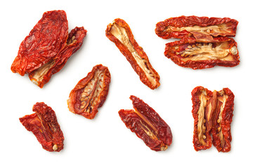 Dried Tomatoes Isolated on White Background