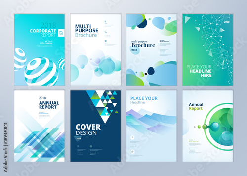 Set of brochure annual report flyer design templates in a4 size set of brochure annual report flyer design templates in a4 size vector illustrations cheaphphosting Images