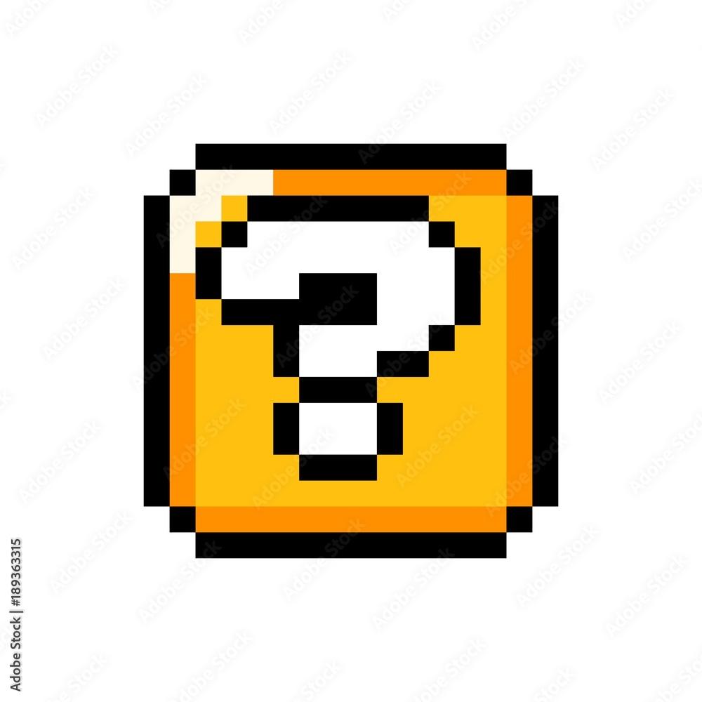 Fototapeta Question mark gold box - isolated vector illustration