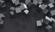 3D Rendering Of Abstract Pile Of Metal Cubes Background