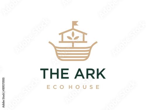 Canvastavla Modern professional logo the ark construction on white background