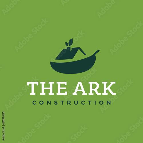 Modern professional logo the ark construction on green background Fototapet
