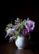 Arrangement with Peonies, Lilacs, Honeysuckle