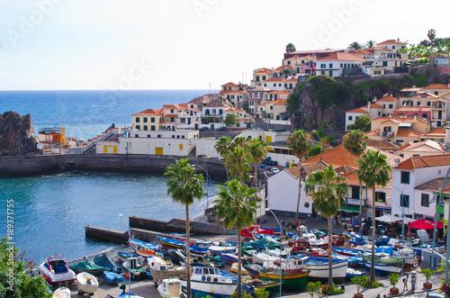 Foto auf Gartenposter Stadt am Wasser Camara de Lobos village - Madeira island, Portugal