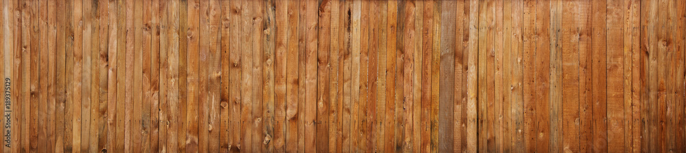Fototapety, obrazy: Brown wood plank wall texture background