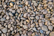 Pebble Rock Background Texture At The River