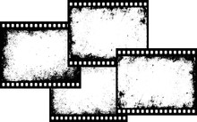 Four Grunge Film Frames With T...