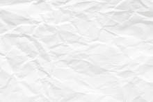 Texture Of White Paper. Wrinkl...