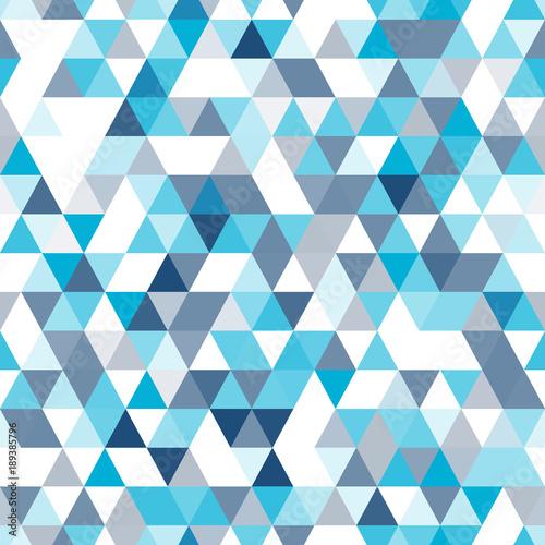 Naklejka dekoracyjna Mozaika z niebieskich trójkątów