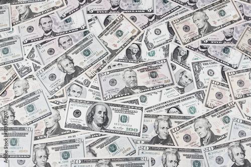 Photo  American banknotes