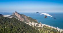 Hang Gliding Off Pedra Bonita In Rio De Janeiro, Brazil