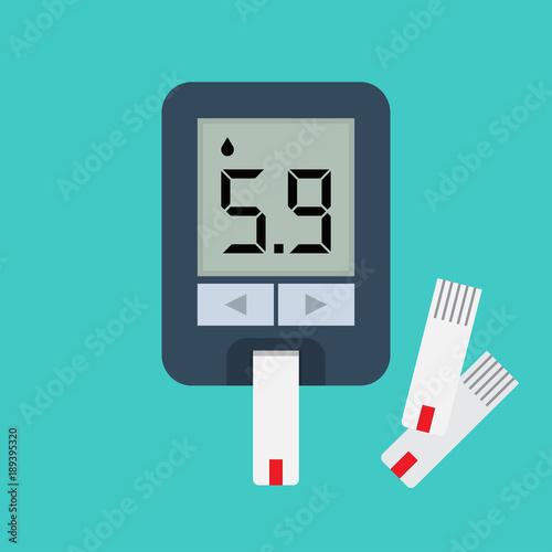 Fotomural  Blood glucose meter. Blood sugar readings.