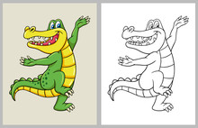 Dancing Crocodile Cartoon Char...