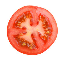 Slice Of Tomato Isolated On Wh...