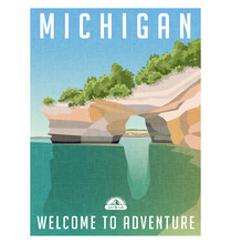 Michigan Travel Poster Or Stic...
