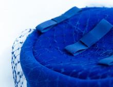 Blue Suede Velvet Hat