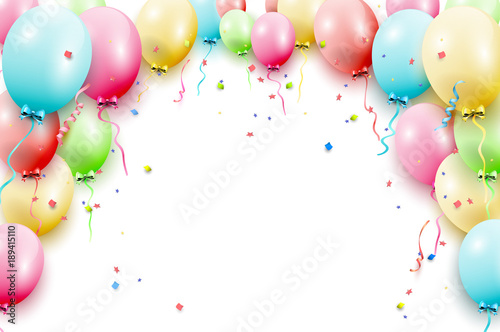 Birthday balloons template © kaktus2536